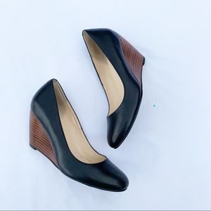 Cole Haan | Black Leather Wedge Size 5.5